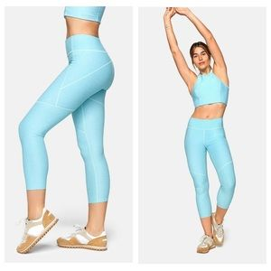Outdoor Voices Warmup Compression Leggings Blue L